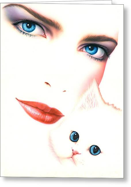 Kitten Love Greeting Card by Andrew Farley