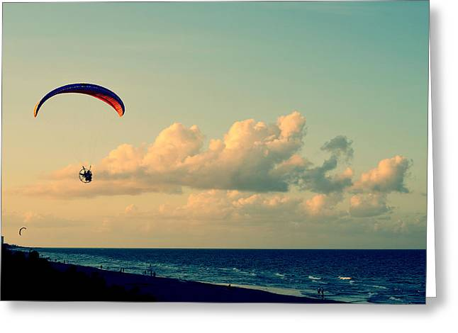 Kitty Hawk Greeting Card by Laura Fasulo