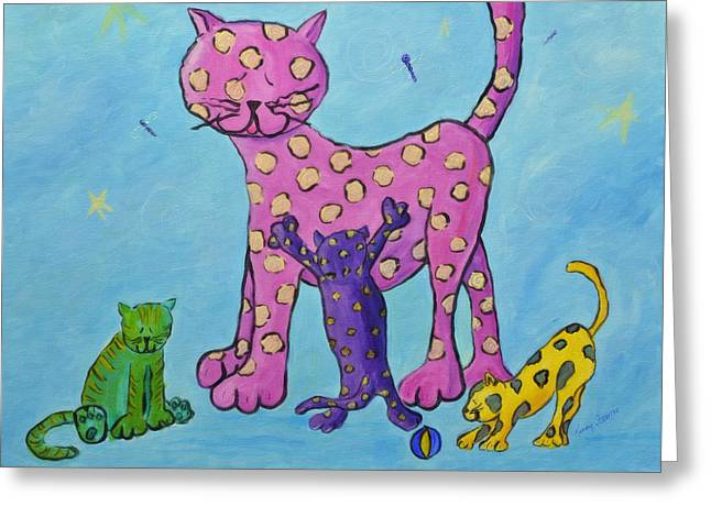 Francis Greeting Cards - Kitty Litter Greeting Card by Kenny Francis
