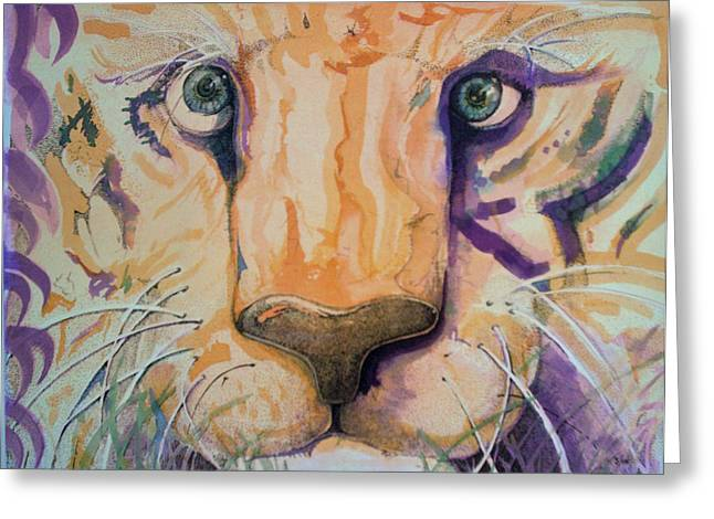 Recently Sold -  - Lioness Greeting Cards - Kitty Greeting Card by Paul Kasmir