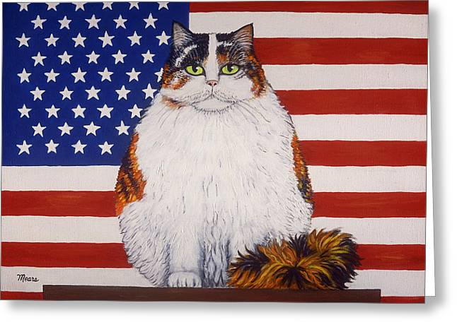 Independance Day Greeting Cards - Kitty Ross Greeting Card by Linda Mears