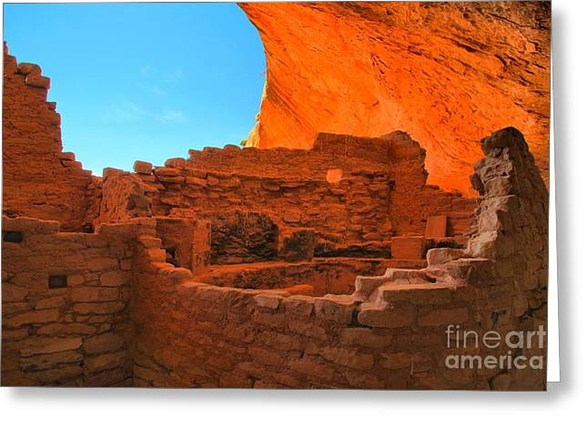 Mesa Verde Greeting Cards - Kiva Under An Alcove Greeting Card by Adam Jewell