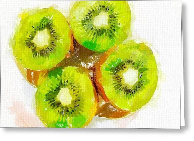 Kiwifruit Greeting Cards - Kiwi 2 Greeting Card by Chris Butler