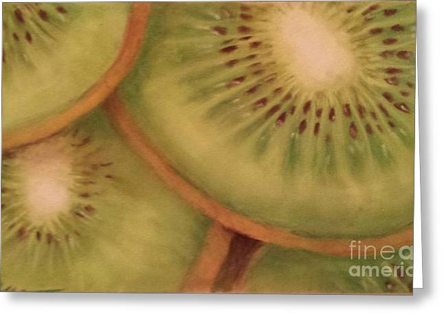 Produce Pastels Greeting Cards - Kiwi Greeting Card by Cynthia Pierson