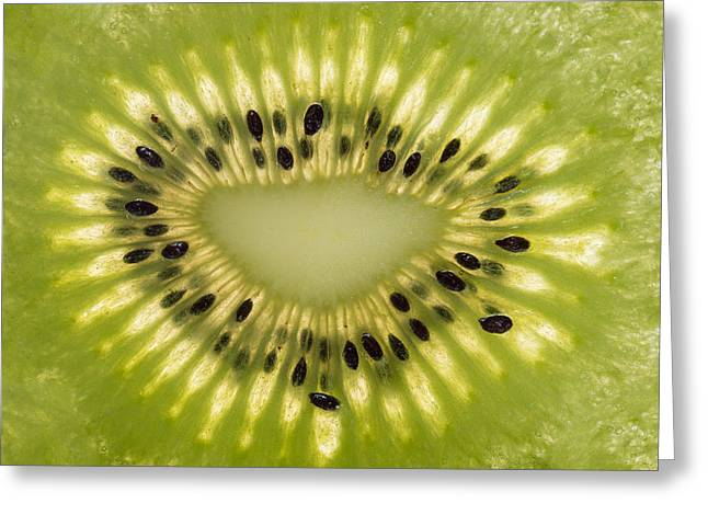 Organic Photographs Greeting Cards - Kiwi Detail Greeting Card by Steve Gadomski