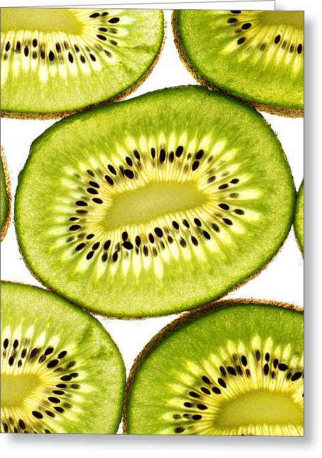 Kiwi Art Digital Art Greeting Cards - Kiwi fruit III Greeting Card by Paul Ge