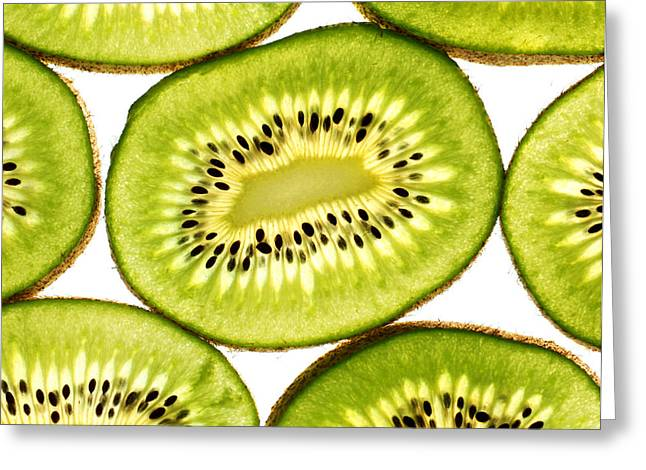 Kiwi fruit III Greeting Card by Paul Ge