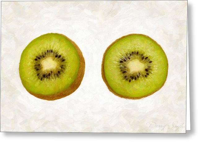 Kiwi Slices Greeting Card by Danny Smythe