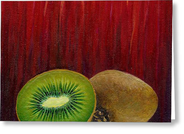 Sorbet Greeting Cards - Kiwi Sorbet Greeting Card by Melissa  Pop