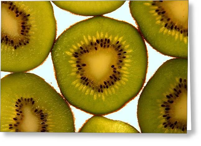 Kiwifruit Greeting Cards - Kiwifruit Greeting Card by Greg Thiemeyer
