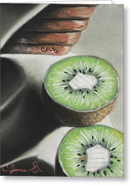 Kiwi Pastels Greeting Cards - Kiwis #2 Greeting Card by Charles T Jones