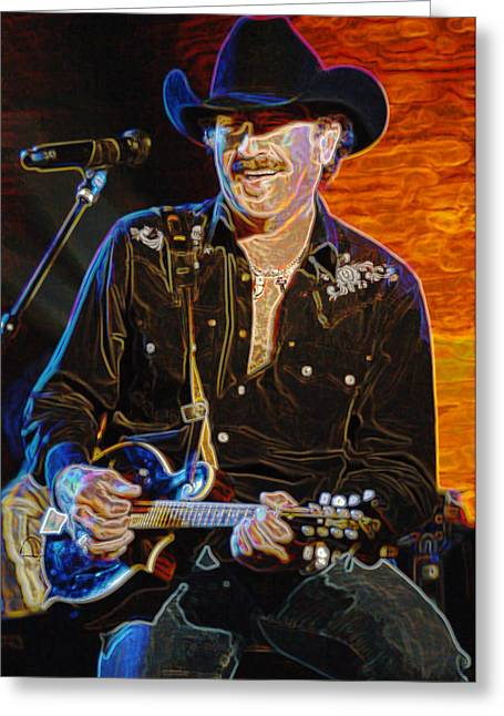 Franklin Tennessee Greeting Cards - Kix Brooks  BROOKS and DUNN Greeting Card by Don Olea