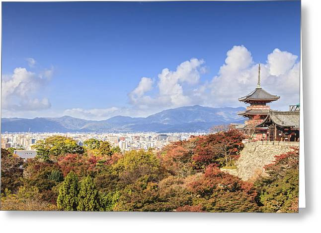 Kyoto Greeting Cards - Kiyomizu dera Temple Kyoto Japan Greeting Card by Colin and Linda McKie