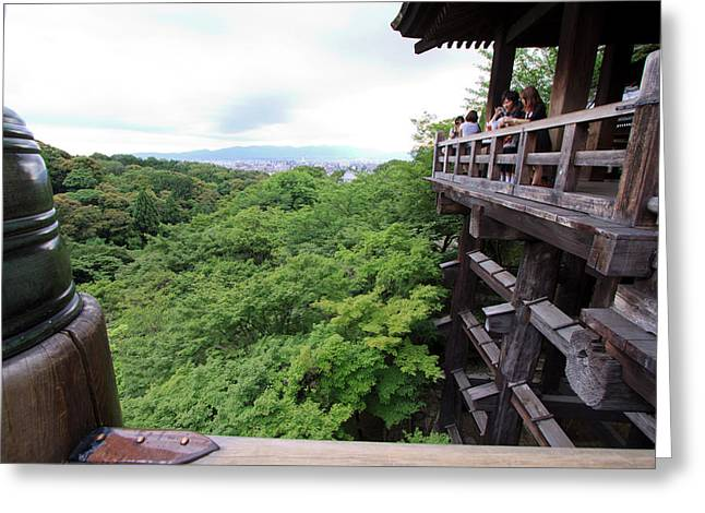 Kiyomizudera Temple Is One Of Kyoto's Greeting Card by Paul Dymond