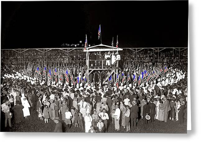 Kkk Greeting Cards - KKK services Capital Horse Show grounds National Photo Co. Arlington Virginia August 9 1925-2014  Greeting Card by David Lee Guss