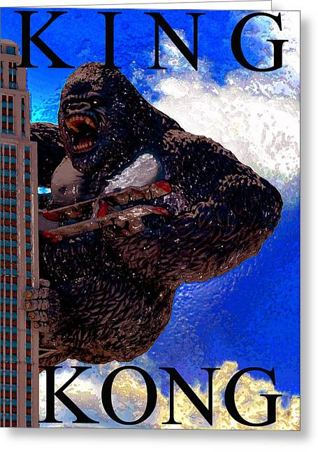 Movie Monsters Greeting Cards - Kong artwork Greeting Card by David Lee Thompson