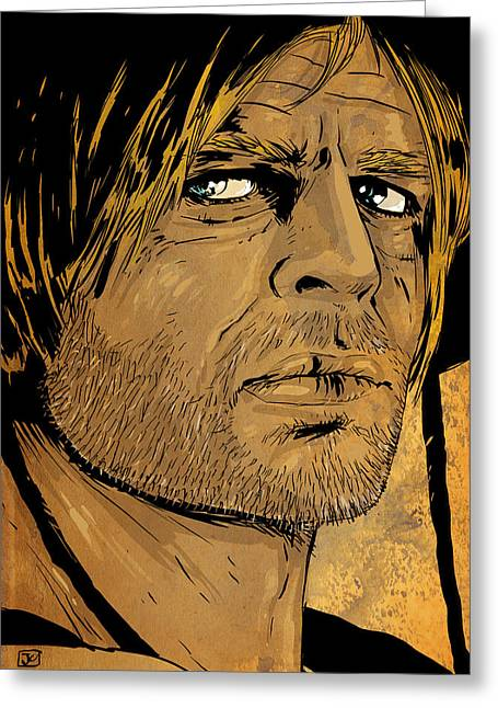 70s Greeting Cards - Klaus Kinski Greeting Card by Giuseppe Cristiano