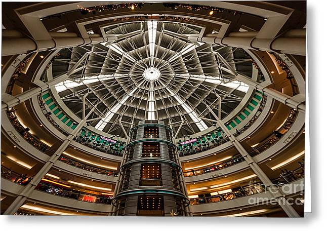 KLCC Mall Greeting Card by Adrian Evans