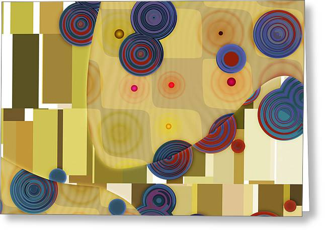 Abstract Shapes Greeting Cards - Klimtolli - 22 Greeting Card by Variance Collections