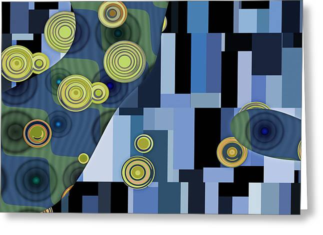 Abstract Shapes Greeting Cards - Klimtolli - 27 Greeting Card by Variance Collections