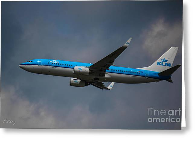 Klm Greeting Cards - KLM Boeing 737 NG Greeting Card by Rene Triay Photography