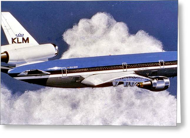 Klm Greeting Cards - Klm Dc-10-10 Greeting Card by Peter Ring