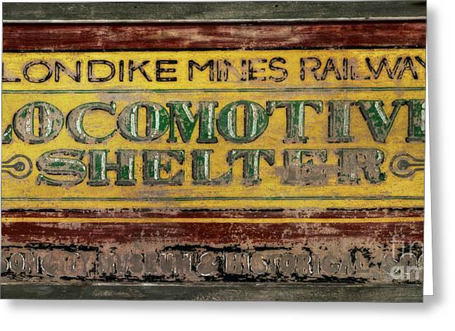 Railway Locomotive Greeting Cards - Klondike Mines Railway Greeting Card by Priska Wettstein