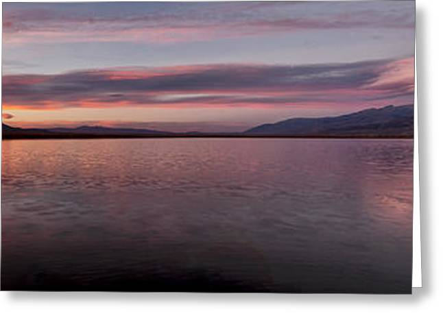Desert Lake Greeting Cards - Klondike Sunset Greeting Card by Cat Connor