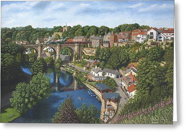Mallards Greeting Cards - Knaresborough Yorkshire Greeting Card by Richard Harpum