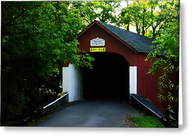 Covered Bridge Greeting Cards - Knechts Covered Bridge Greeting Card by Bill Cannon