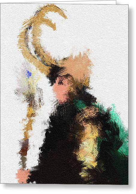 Thor Paintings Greeting Cards - Kneel Master Greeting Card by Miranda Sether