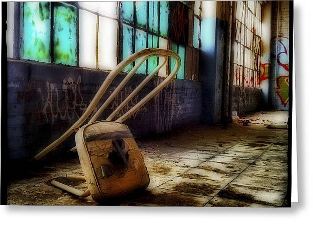 Empty Chairs Greeting Cards - Kneeling Chair Greeting Card by Elena Bouvier