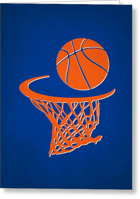 Recently Sold -  - Knicks Greeting Cards - Knicks Team Hoop2 Greeting Card by Joe Hamilton