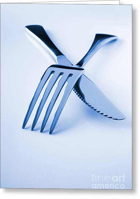 Catering Greeting Cards - Knife and Fork  Greeting Card by Colin and Linda McKie