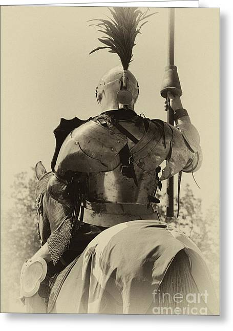 Knighthood Greeting Cards - Knight 6 Greeting Card by Bob Christopher