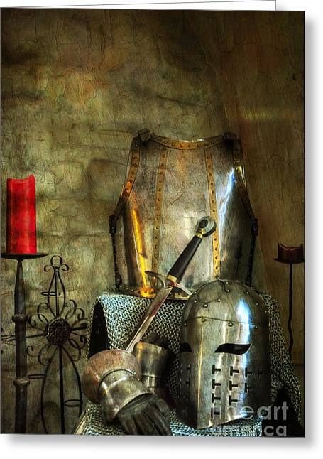 King Arthur Greeting Cards - Knight - A Warriors Tribute  Greeting Card by Paul Ward