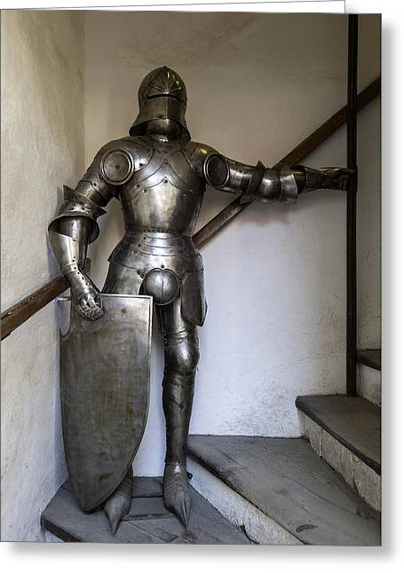 Knights Castle Greeting Cards - Knight armour. Greeting Card by Fernando Barozza