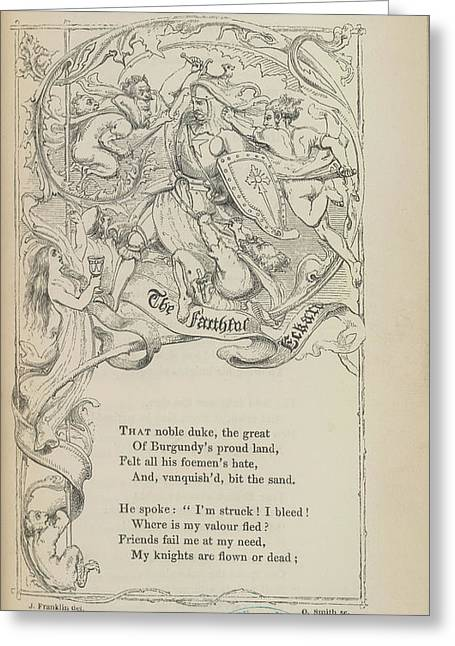 Knight Greeting Card by British Library