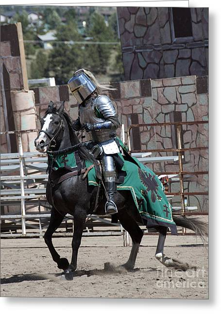 Athletic Sport Greeting Cards - Knight in Shining Armor Greeting Card by Juli Scalzi