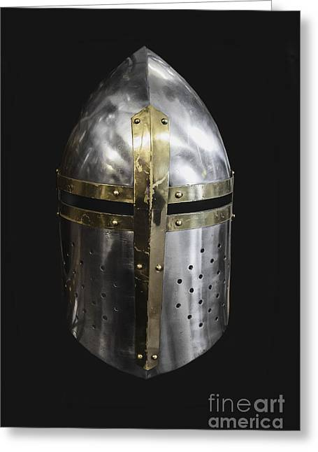 Masked Crusader Greeting Cards - Knight in Shining Armor Greeting Card by Margie Hurwich