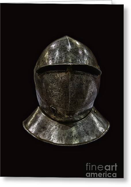 Masked Crusader Greeting Cards - Knight Greeting Card by Margie Hurwich