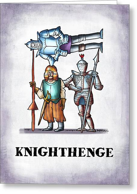 Knighthenge Greeting Card by Mark Armstrong
