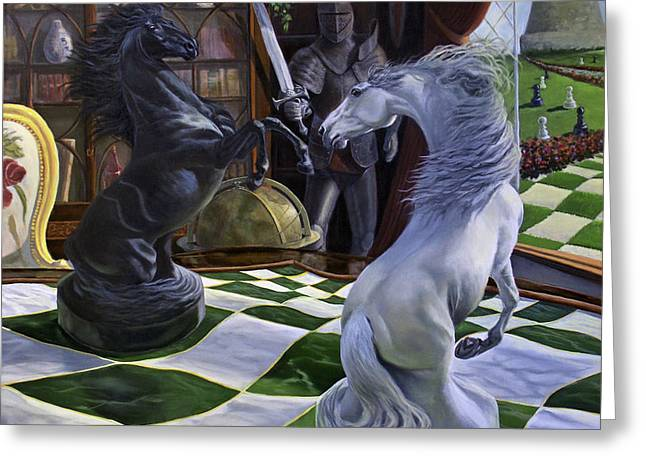 Knight's Magic Greeting Card by Jeanne Newton Schoborg