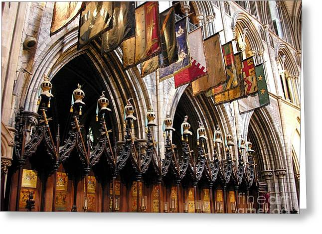 Wood Carving Greeting Cards - Knights Of St. Patrick 2 Greeting Card by Mel Steinhauer