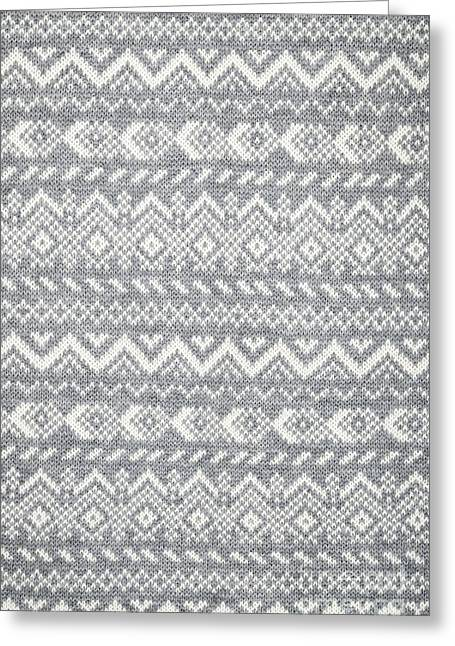 Knitting Greeting Cards - Knit pattern abstract Greeting Card by Elena Elisseeva