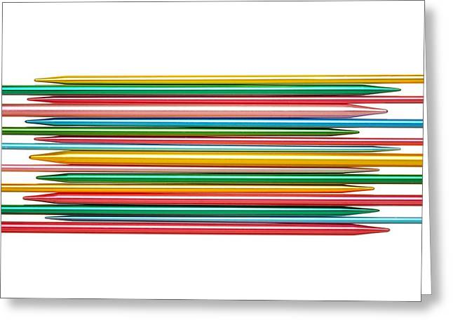 Knitting Greeting Cards - Knitting Needles Greeting Card by Jim Hughes
