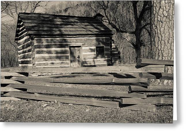 Recently Sold -  - Slaves Greeting Cards - Knob Creek Cabin Greeting Card by Mark Bowmer