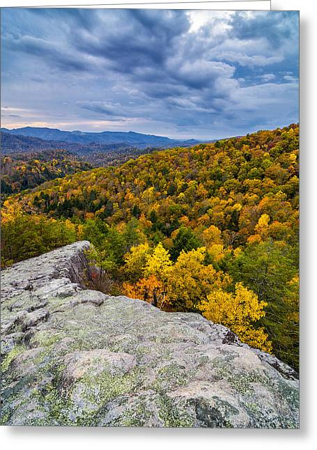 Knobby Greeting Cards - Knobby Rock fall Greeting Card by Anthony Heflin