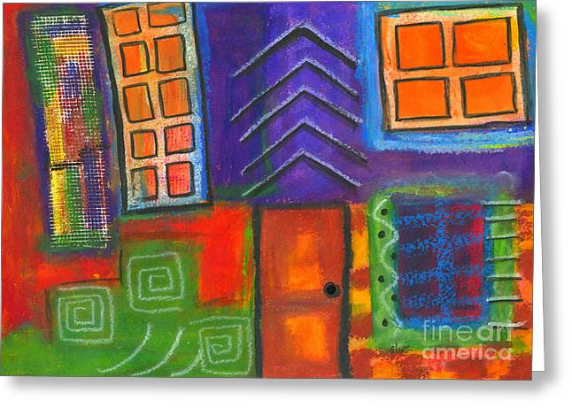 Survivor Art Greeting Cards - Knock and the Door Shall be Opened Greeting Card by Angela L Walker