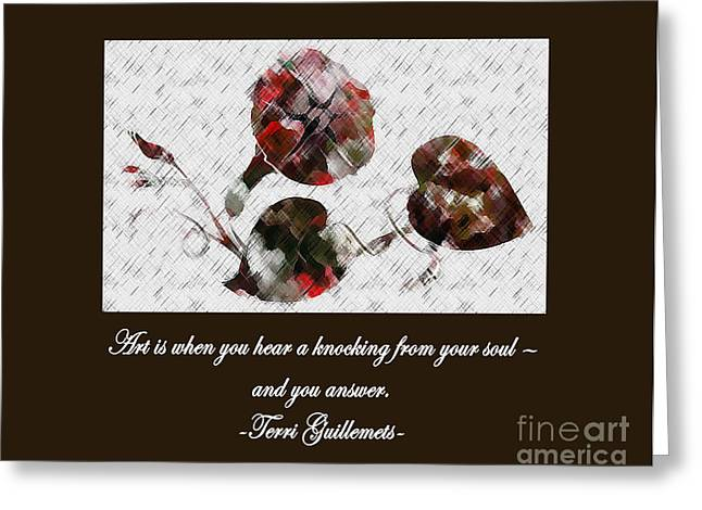 Knocking Digital Art Greeting Cards - Knock At the Door Greeting Card by Dawn Beck